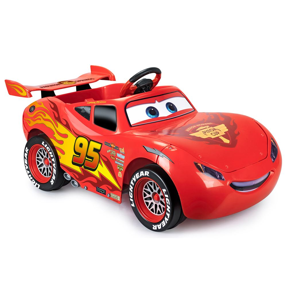 lightning mcqueen ride on car ride on cars for children. Black Bedroom Furniture Sets. Home Design Ideas